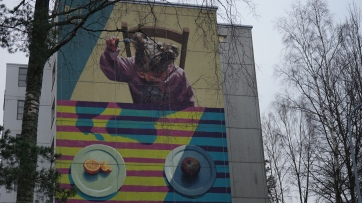 Mural by Apolo Torres in Kontula. Photo Marc Helfer